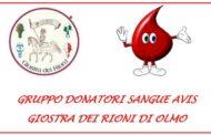 Giostra dei Rioni di Olmo insieme con AVIS Comunale Arezzo